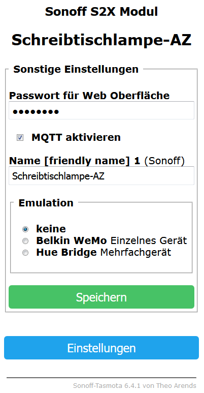 Sonoff in FHEM integrieren | TASMOTA und MQTT Device | tpDEsign de